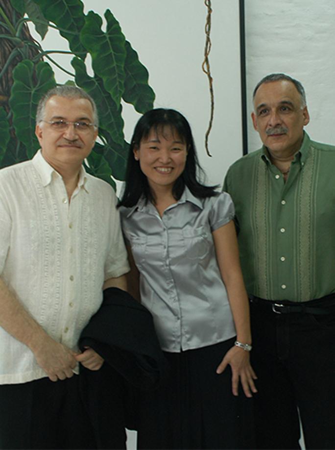 Con Osvaldo Salerno y Ticio Escobar (2007)