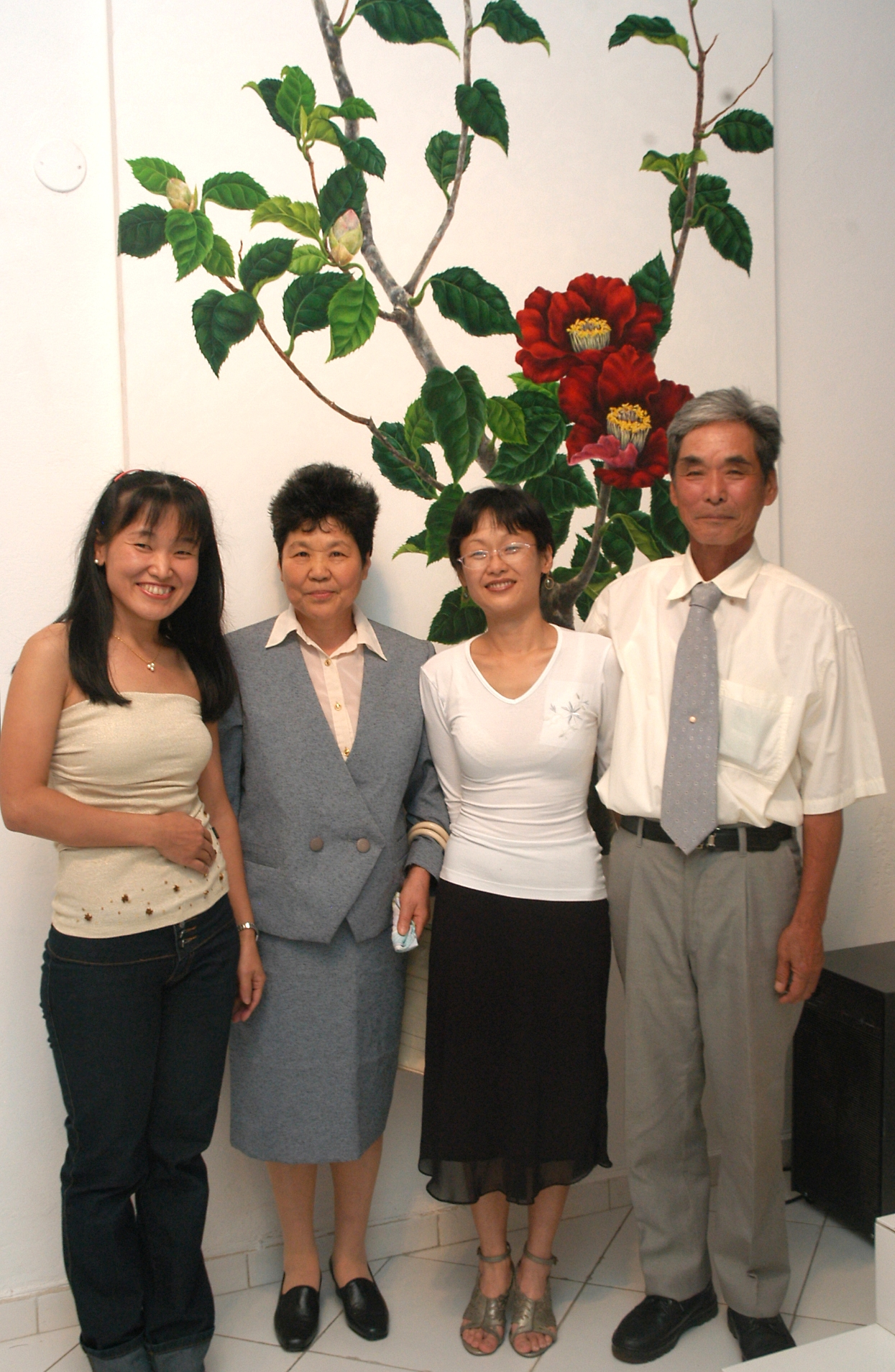 Con madre, hermana y padre (2008)
